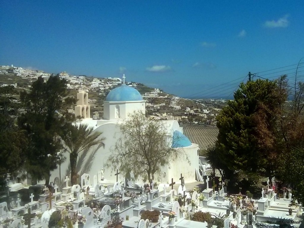 Santorini Chapel and Cemetery Greece