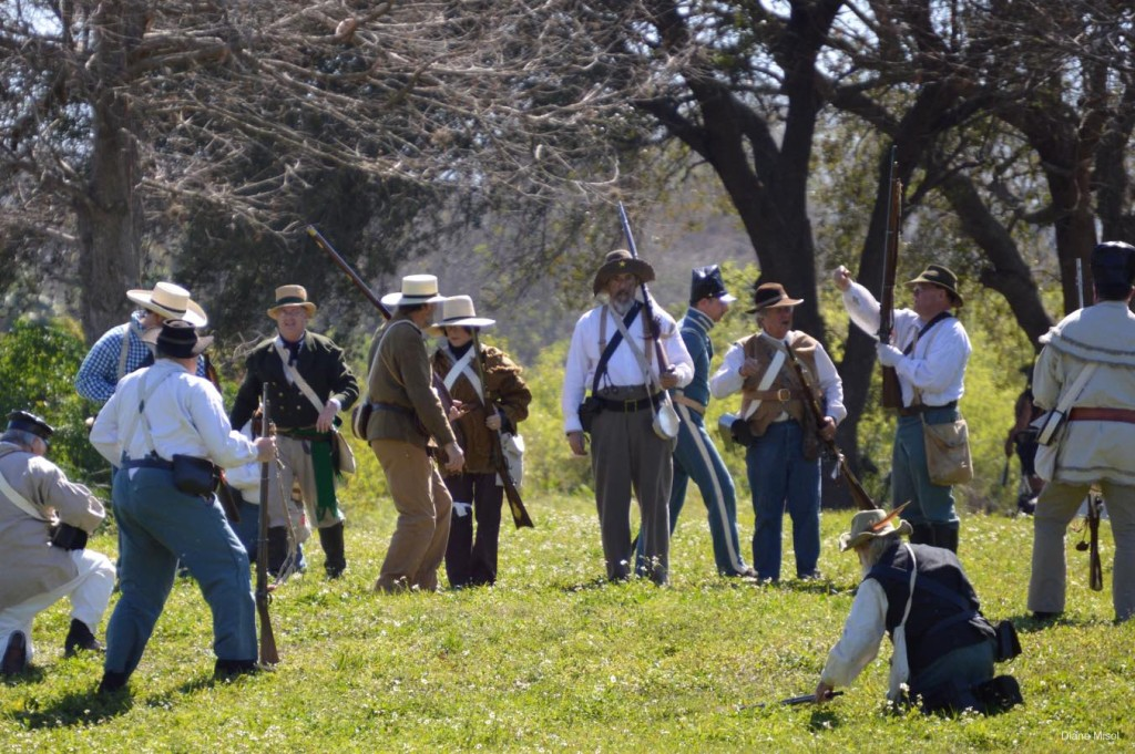 The Battle Of Okeechobee, reenactment in full swing
