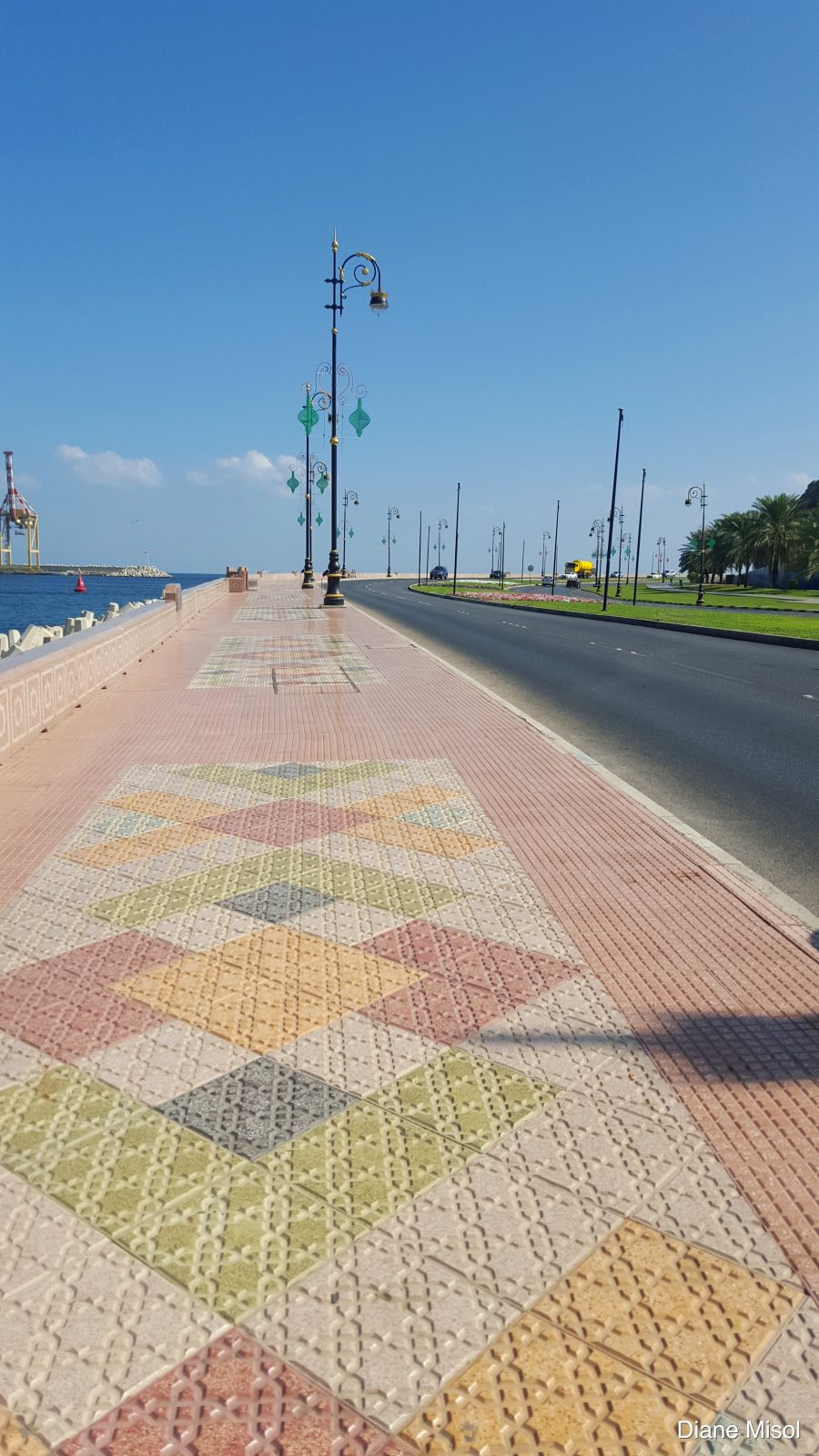 Beautiful, Clean Sidewalk. Muscat, Oman