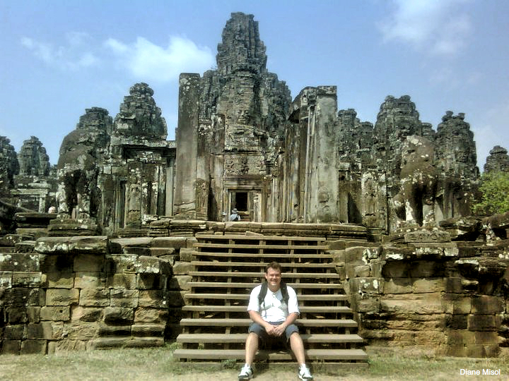 Temple Rest At The Bayon, Cambodia
