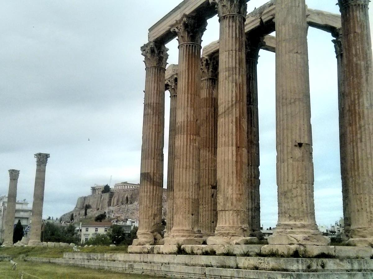 Temple of Zeus Under the Acropolis. Athens, Greece