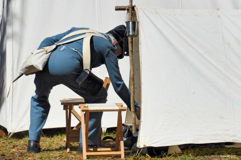 Soldier at Tent, Battle of Okeechobee