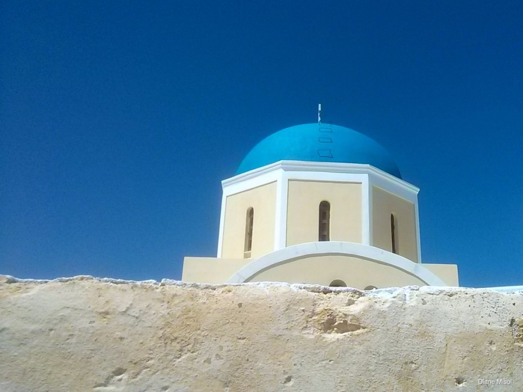 Tower Roof, Santorini, Greece