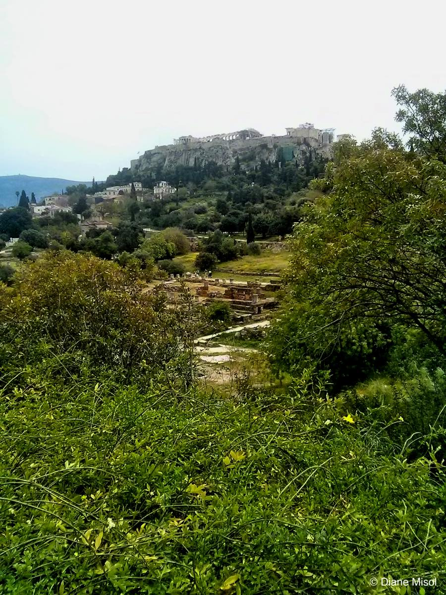 View From Agora to Acropolis, Athens, Greece