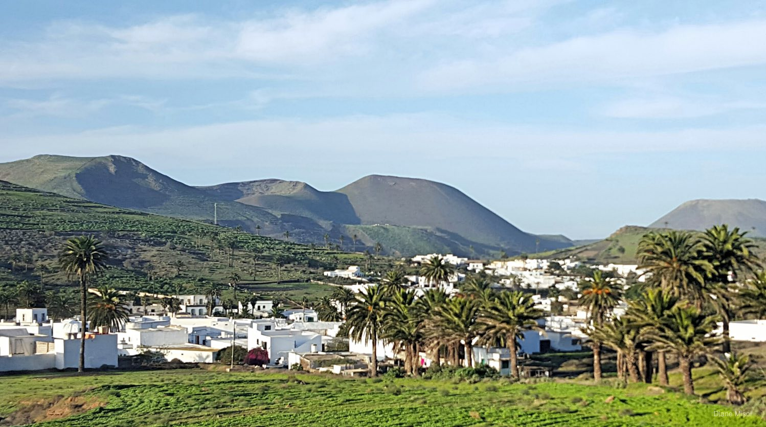 Village in the hills, Lanzarote, Spain
