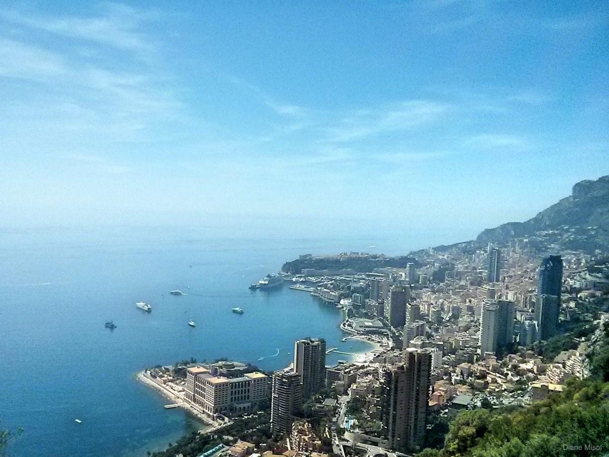 View of Ville Franche on the Road to Monte Carlo