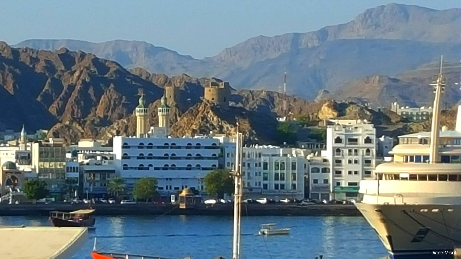 Scenic view of the Waterfront. Muscat, Oman