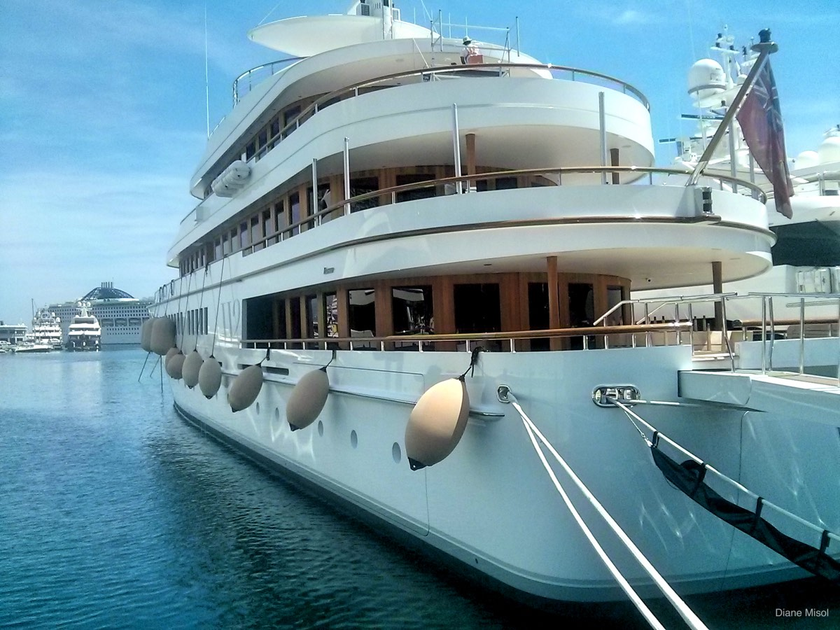 Yacht in port of Monte Carlo