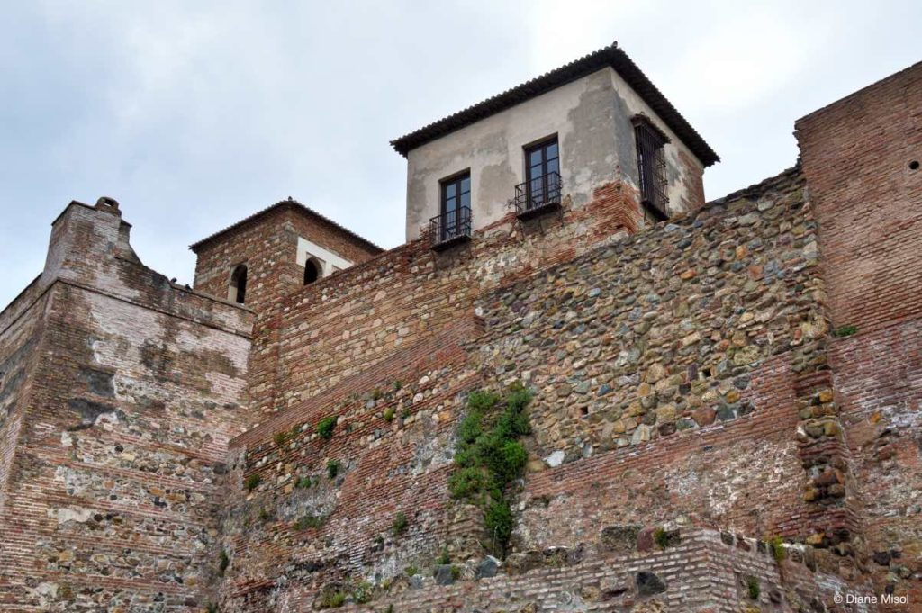 Alcazaba Fortified Walls. Malaga, Spain