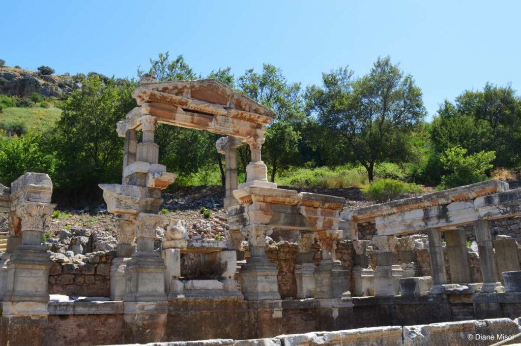 Ancient Fountain of Trajan, Long Gone Dry, Ephesus