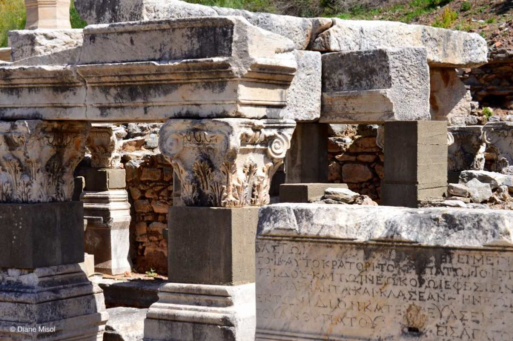 Ancient Inscriptions. Ephesus, Turkey