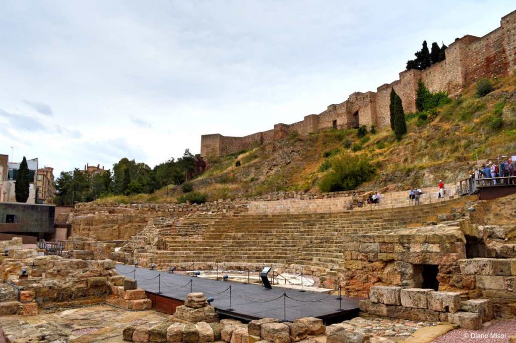 Ancient Roman Theatre. Malaga, Spain