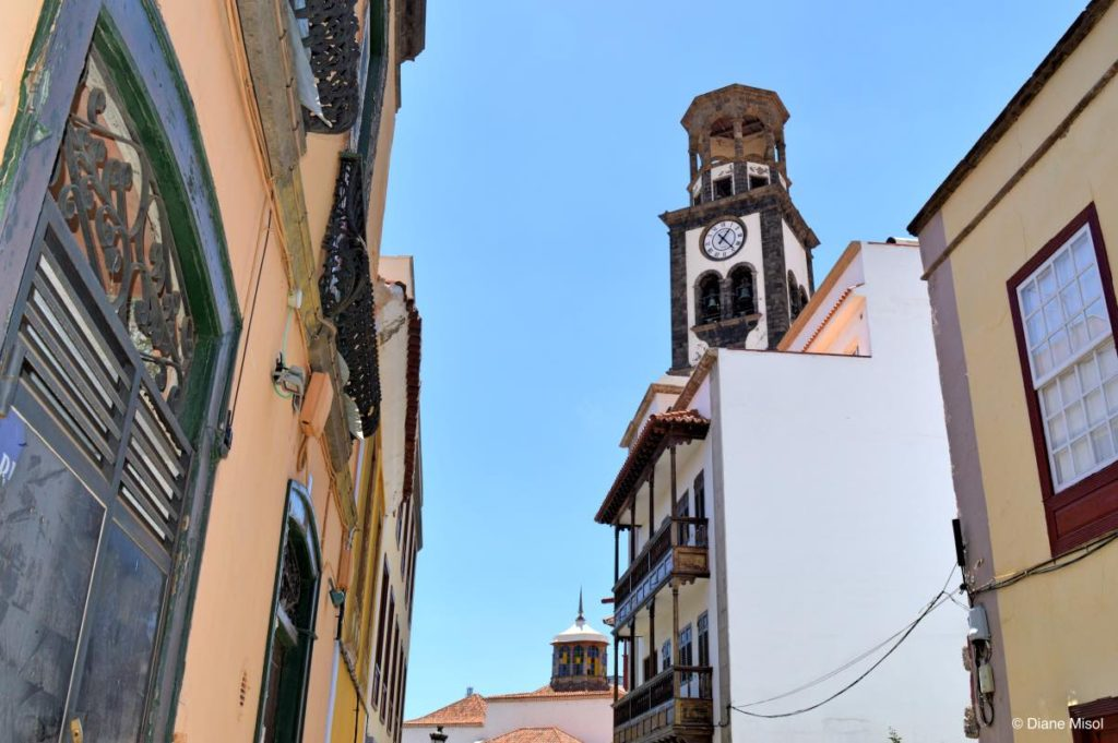 Bell Tower Towers Over Buildings. Tenerife