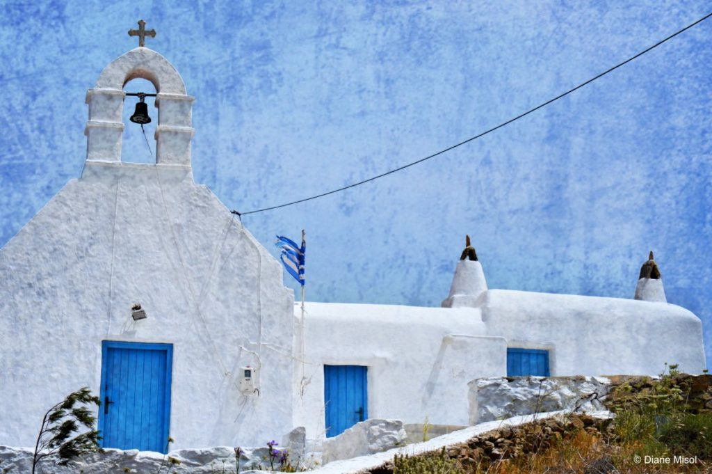 Blue on Blue, Postcard Feelings, Church of Mykonos, Greece