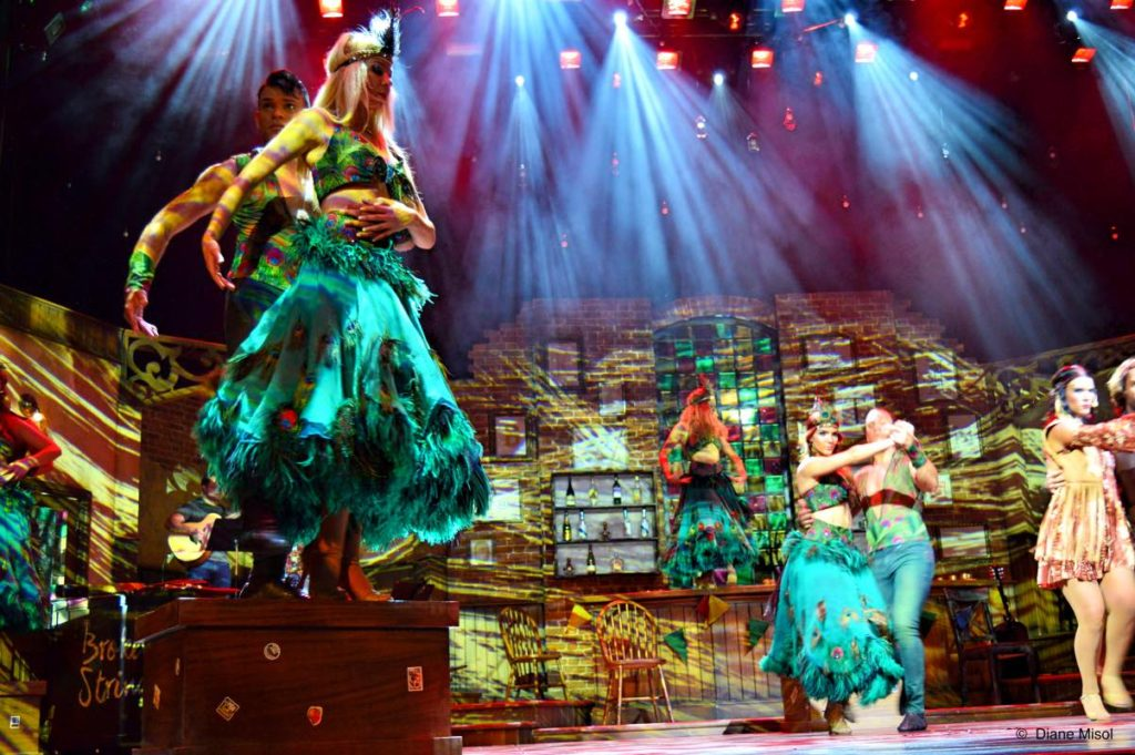 Broken Strings and Peacock Dresses. Celebrity Cruises Stage show