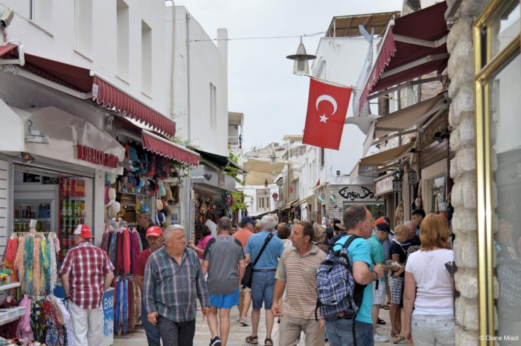 Busy Tourist Street. Bodrum, Turkey