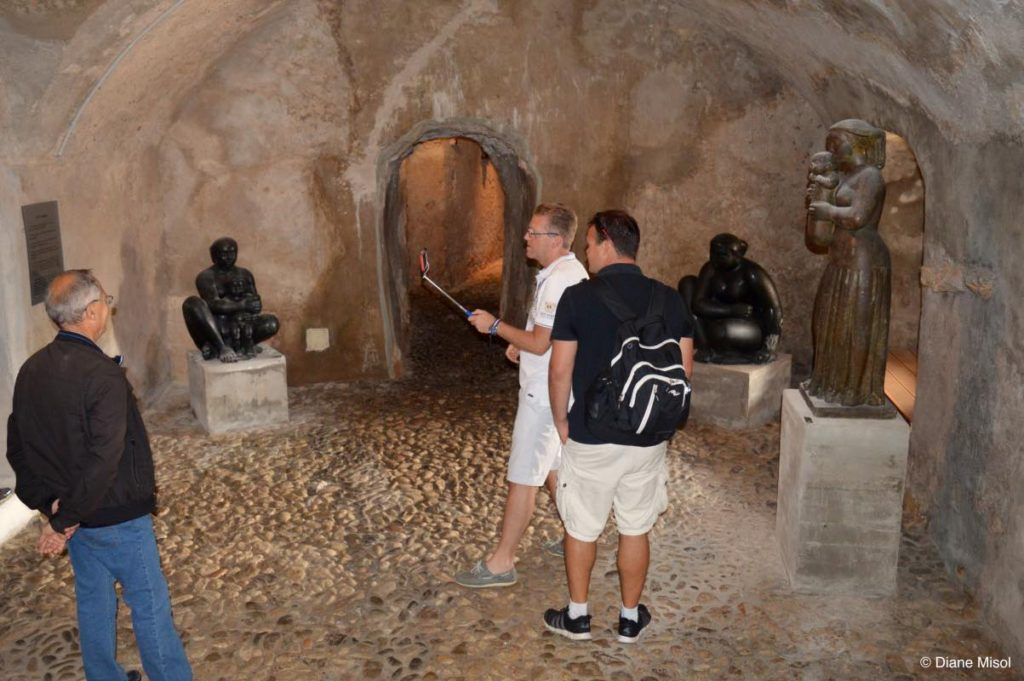 Chamber in the Volti Museum. Villefranche, France