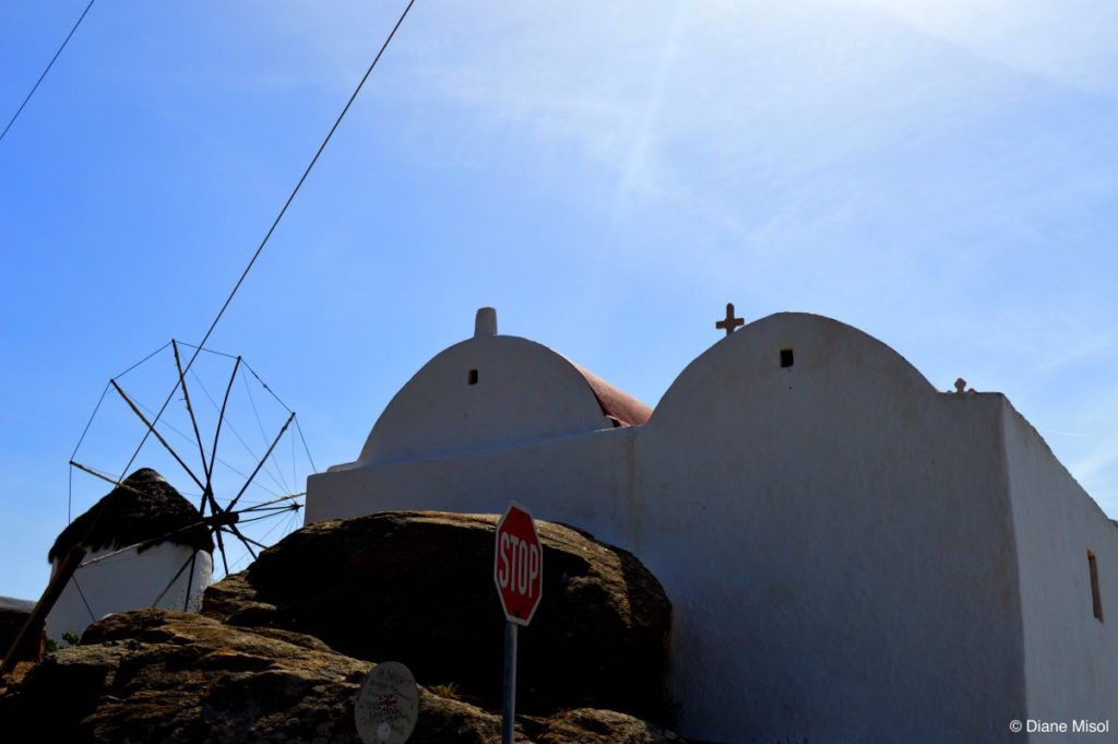 Church and Windmill. Mykonos, Greece