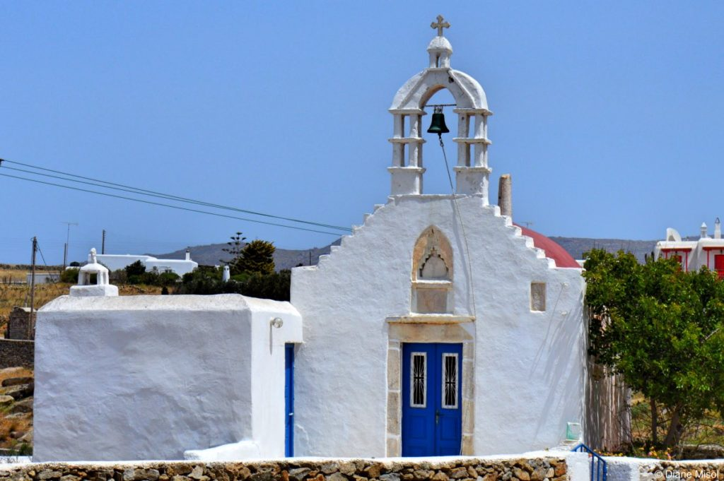 Church by the Road. Mykonos, Greece