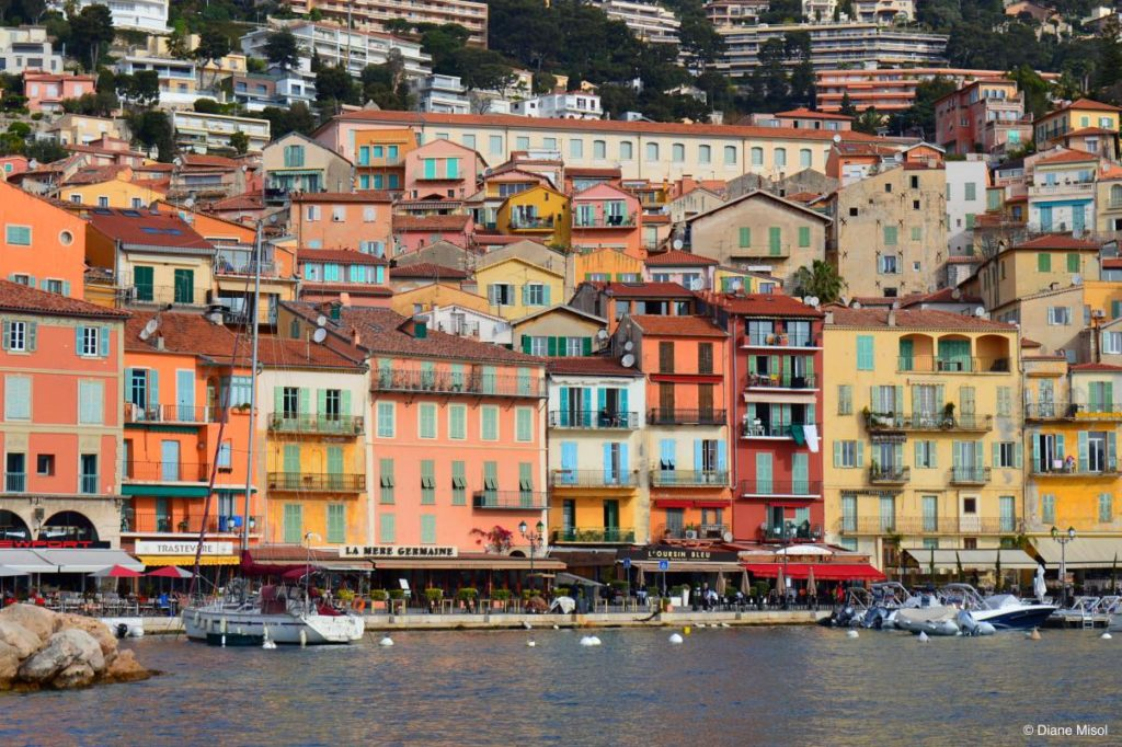 Colourful Waterfront, French Riviera, Villefranche, France