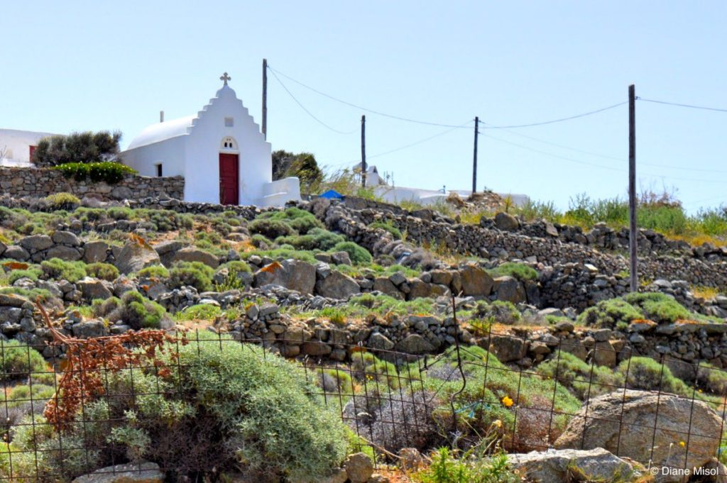 Country Church on a Hill. Mykonos, Greece