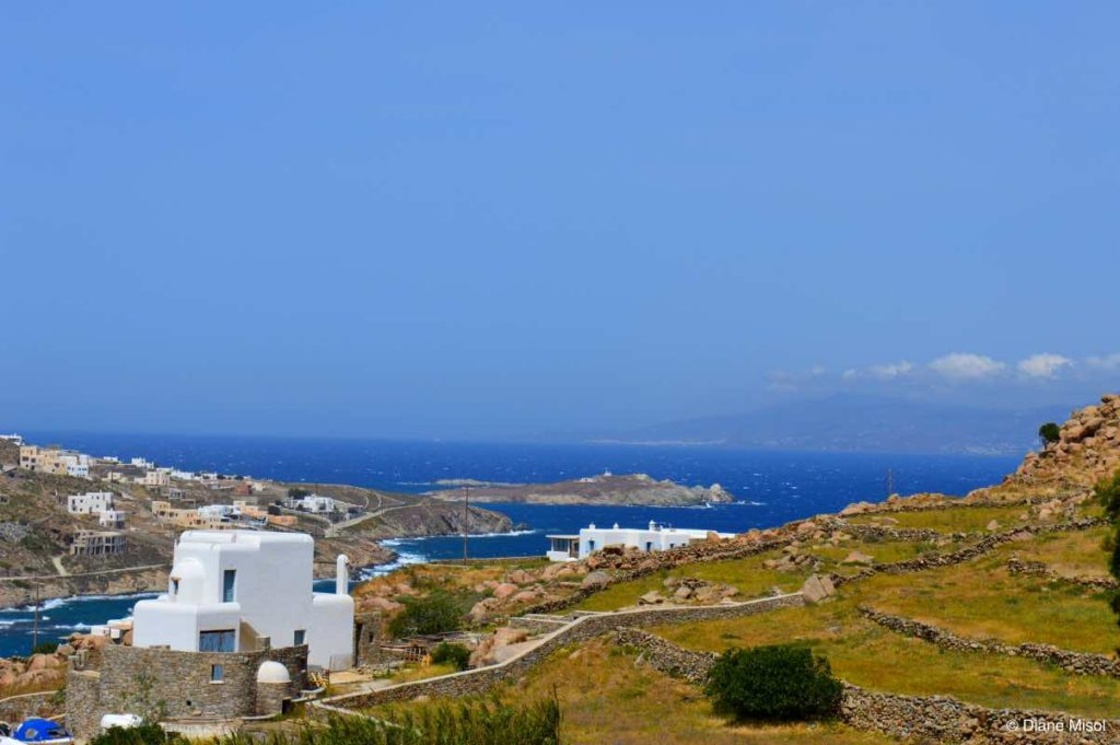 Country View of Mykonos, Greece