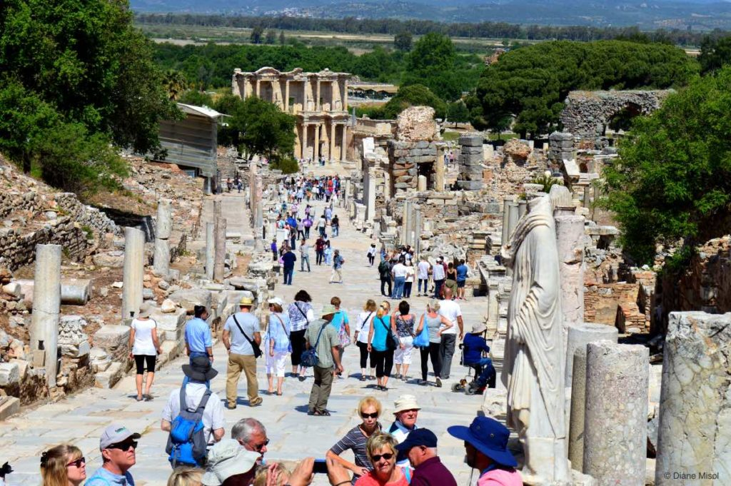 Curetes Street, View to the Library of Celsus, Ephesus
