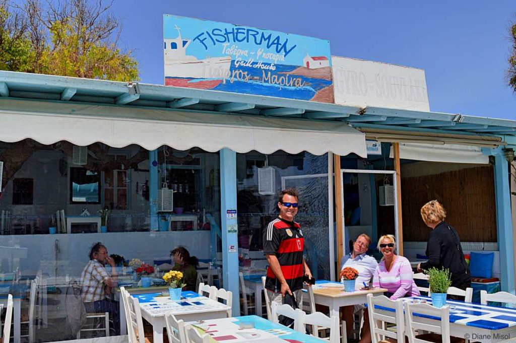 Fisherman Restaurant in Ano Mera. Mykonos, Greece