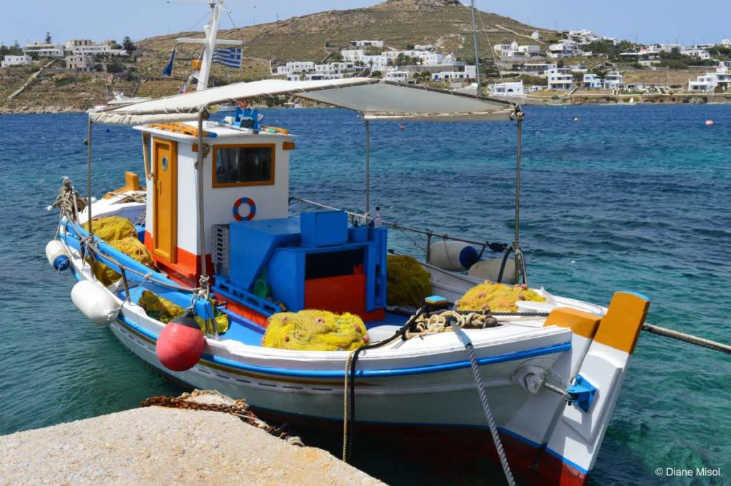 Fishing Boat. Mykonos, Greece