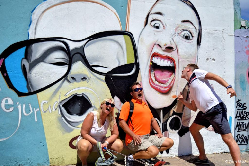 Fun with Street Art Graffiti. Tenerife, Canary Islands