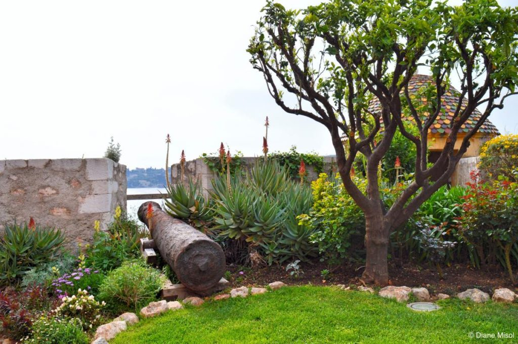 Gardens and Cannon. Fort La Citadel, Villefranche, France