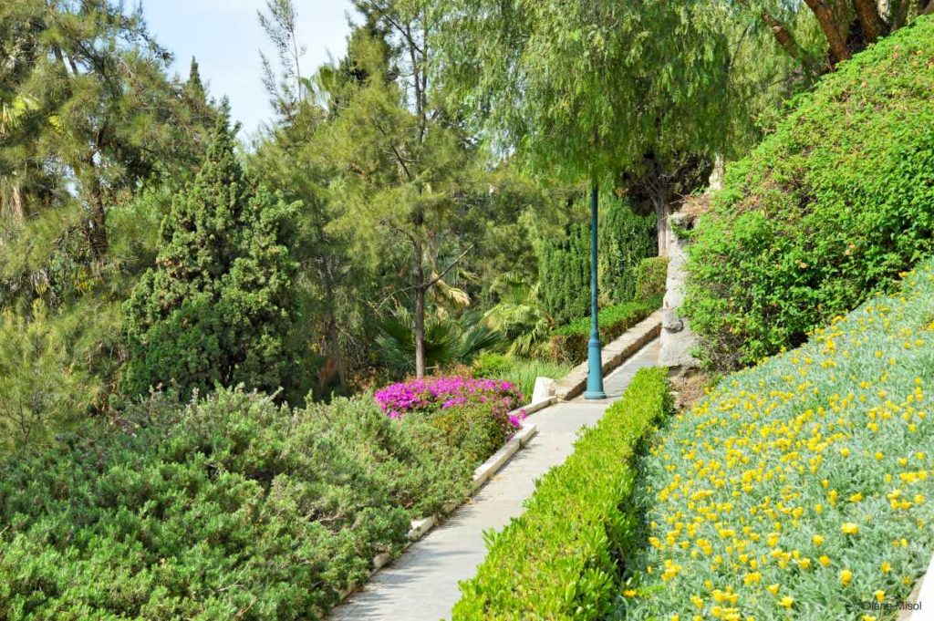 Gardens on Walkway to Gibralfaro in Malaga
