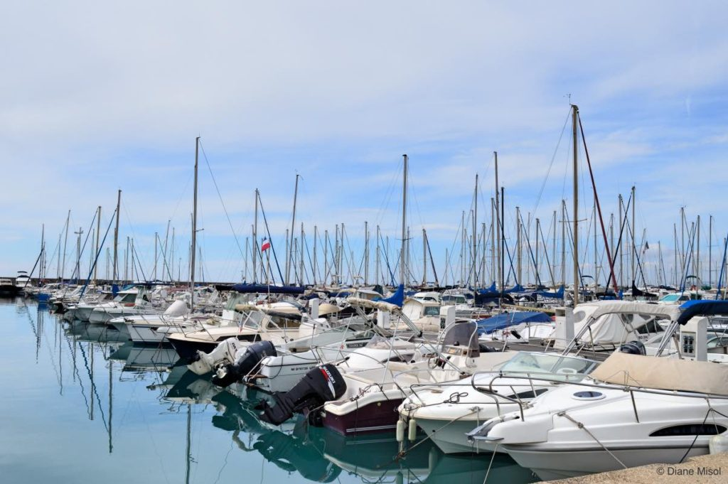 Harbour full of Sailboats. French Riviera