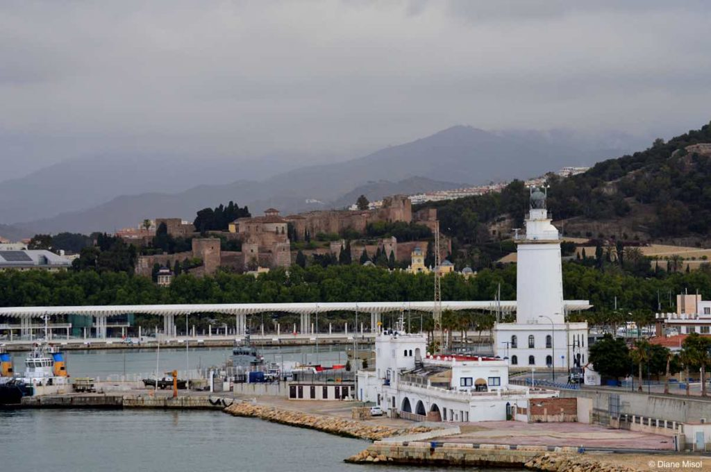 Lighthouse and Alcazaba. Malaga, Spain