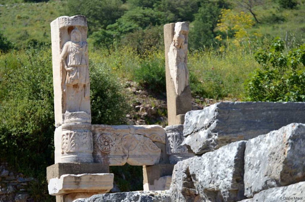 Lonely Pair Lost in Time. Ephesus, Turkey