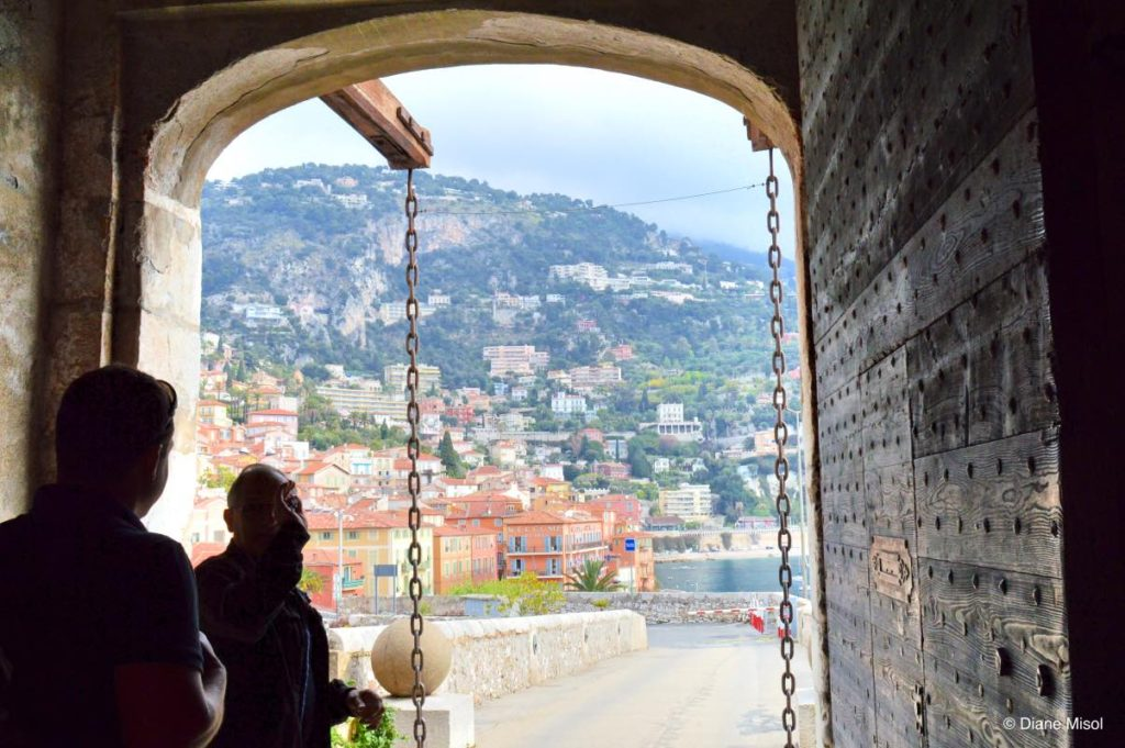 Looking Out the Fort Door at Villefranche. France