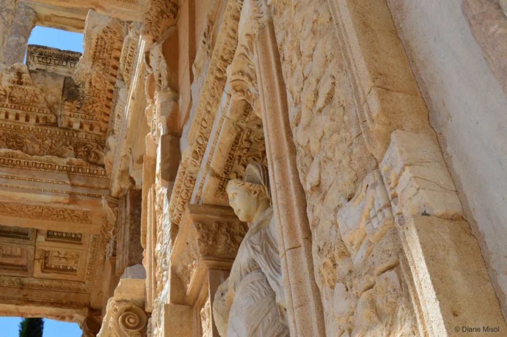 Looking Up in the Library of Celsus. Ephesus