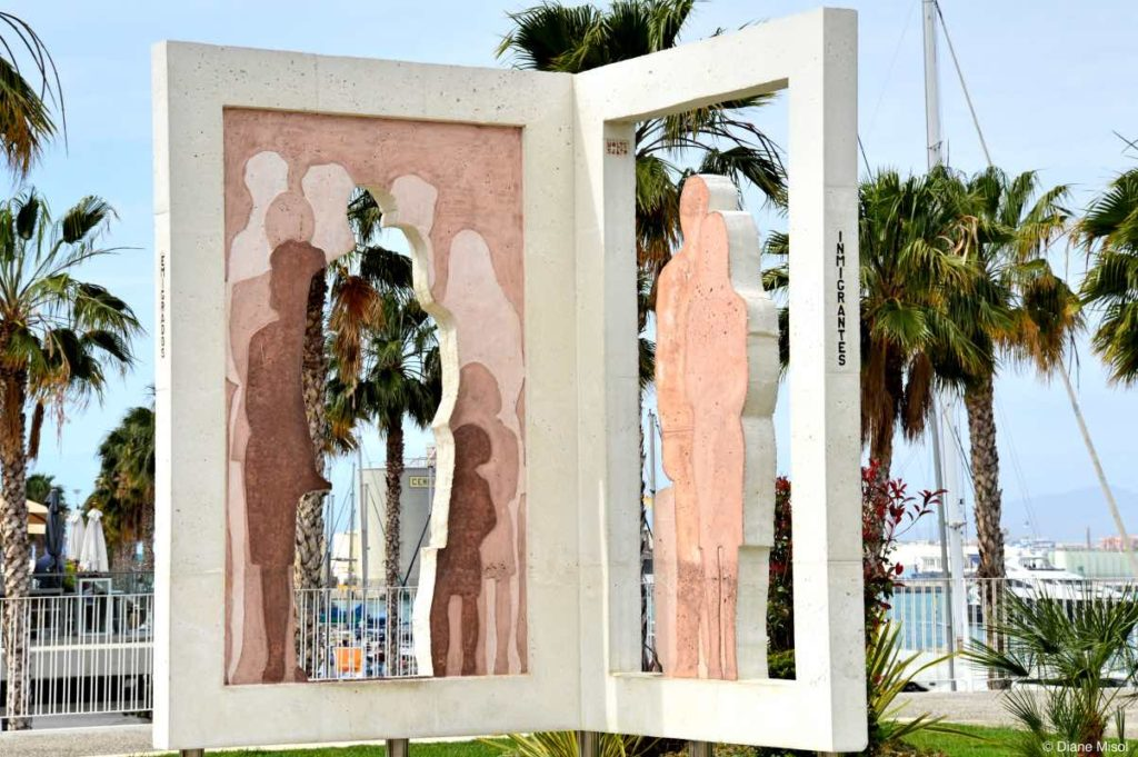 Monument, The Immigrants. Malaga, Spain