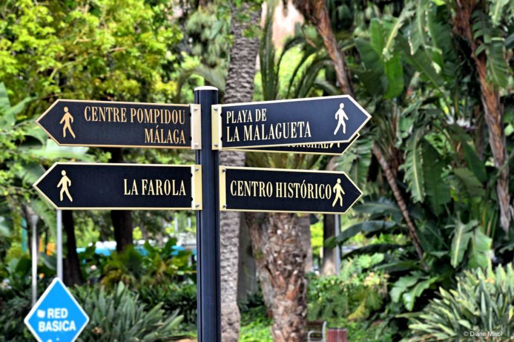 Pedestrian Street Signs, Urban Hiking. Malaga