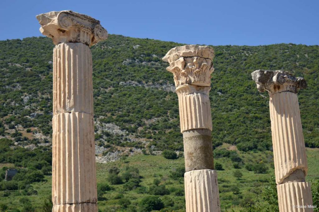 Pillars of Ancient Ephesus. Turkey