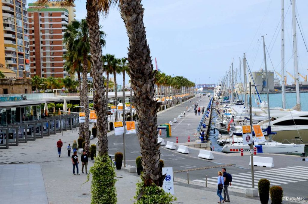 Port Area in Malaga, Spain