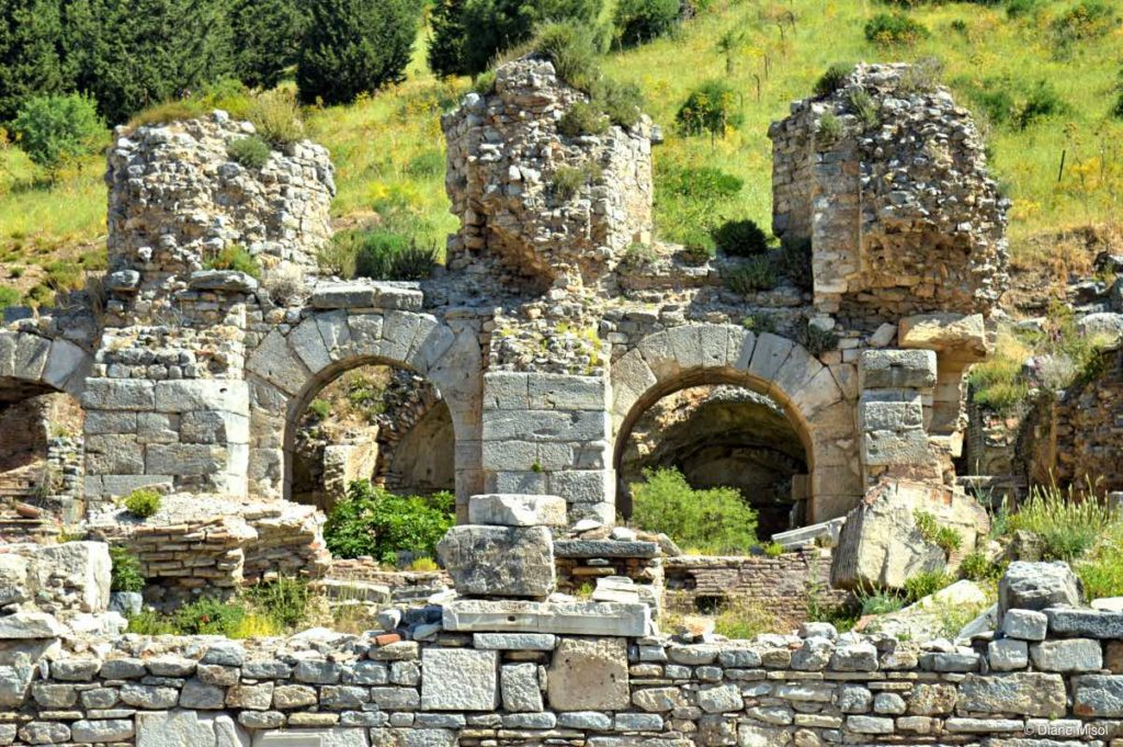 Square of Verulanus and Great Bath. Ephesus, Turkey