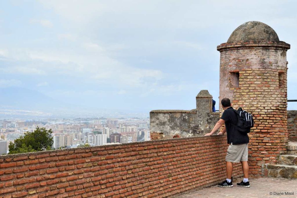 Taking in the Views from Gibralfaro Castle, Malaga
