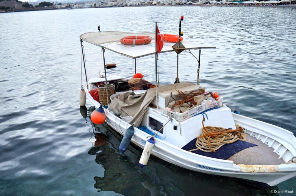 Tiny Fishing Boat, Bodrum, Turkey