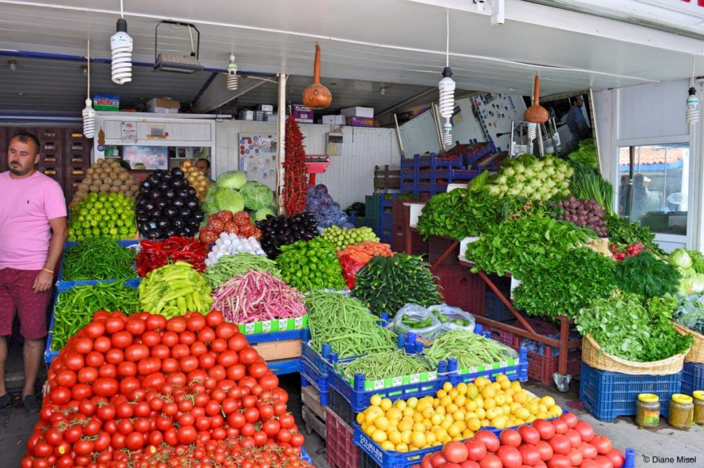 Vegetable Stand at the Market, Bodrum, Turkey