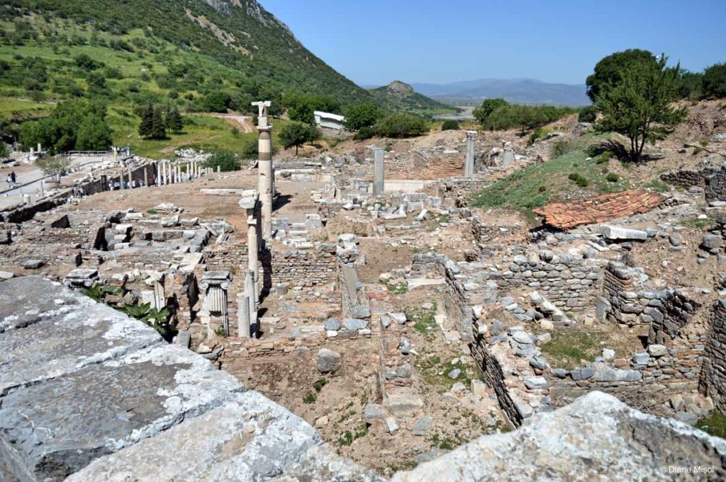 View of Ephesus From Top of Odeon