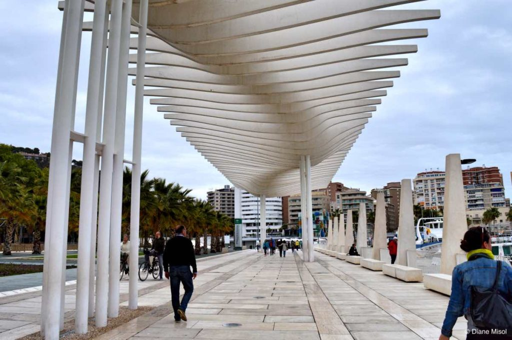 Waves, Architecture on the Promenade Pablo Ruiz Picass, Port of Malaga