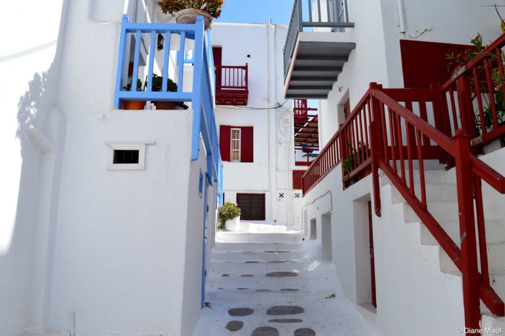 White Washed Stairways. Mykonos, Greece