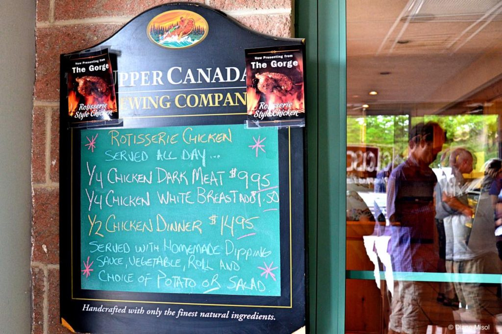 Daily Specials at the Gorge Country Kitchen, Elora, ON, Canada