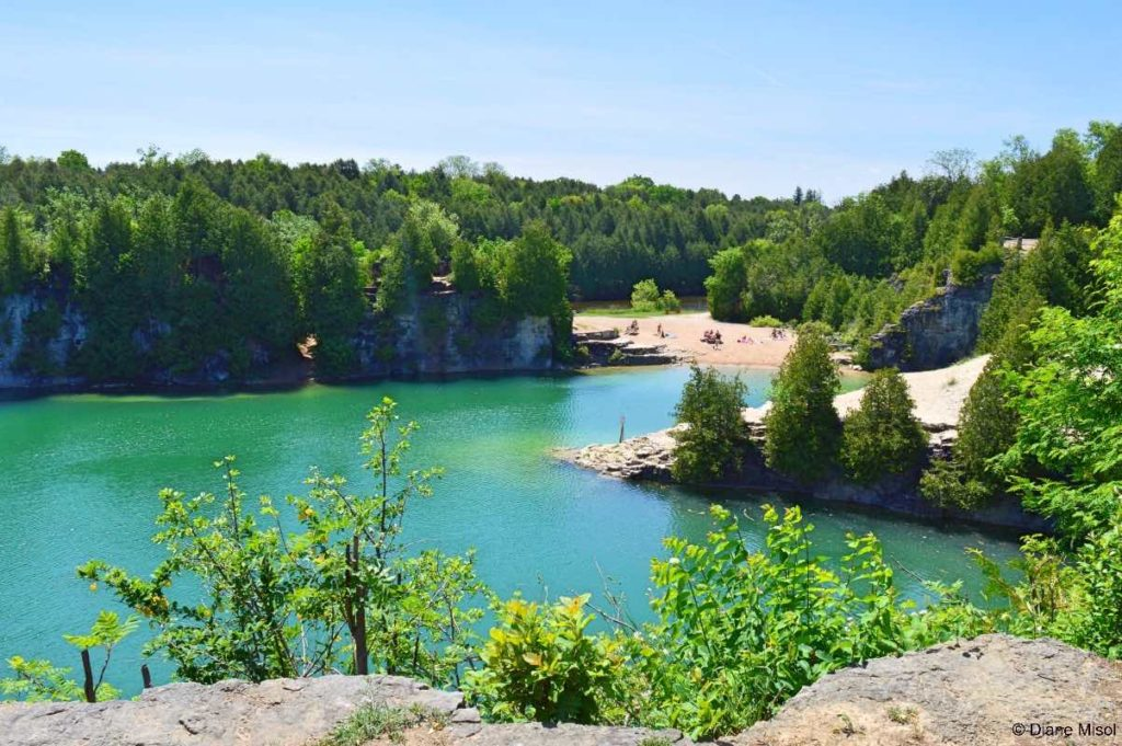 Elora Quarry and Beach. Ontario, Canada